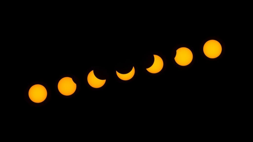 részleges napfogyatkozás pillanatai