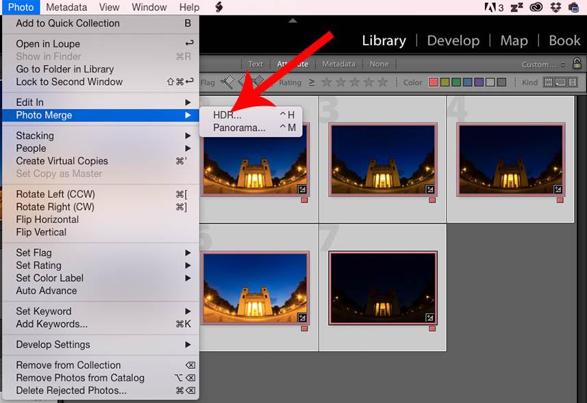 Lightroom CC HDR kép készítése
