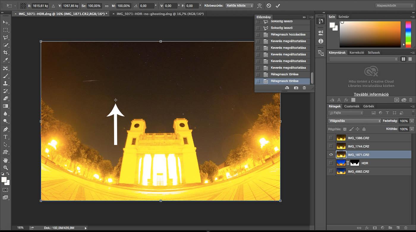 Photoshop Free Transform forgatás