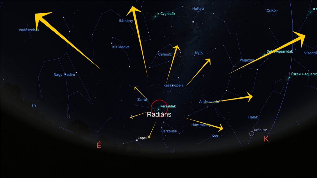Perseidák meteorraj radiánsa 02