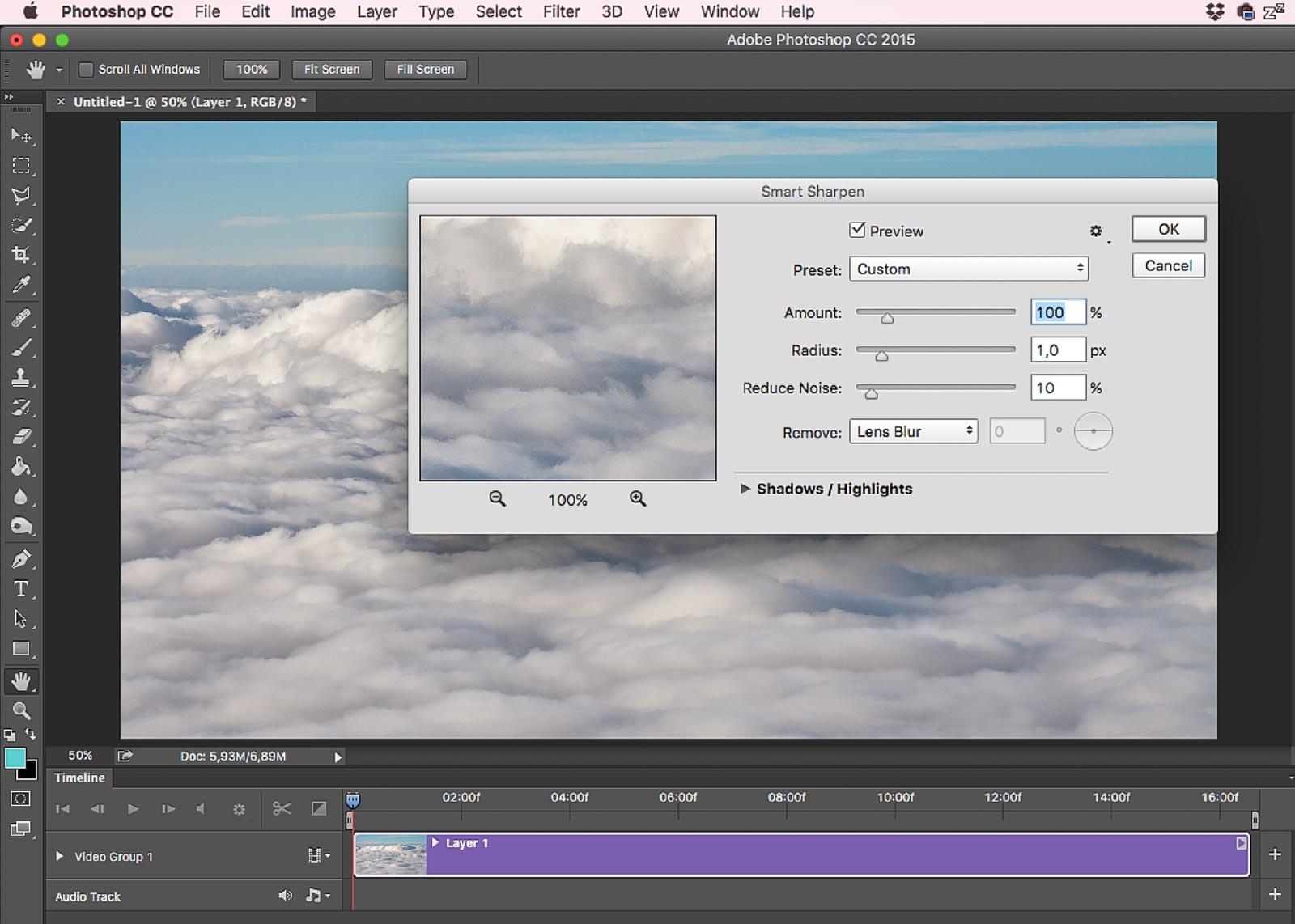 Photoshop videó élesítése