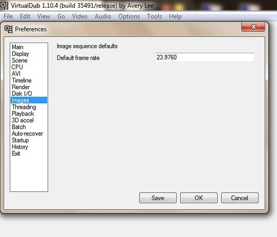virtualdub framerate beállítása timelapse-hoz