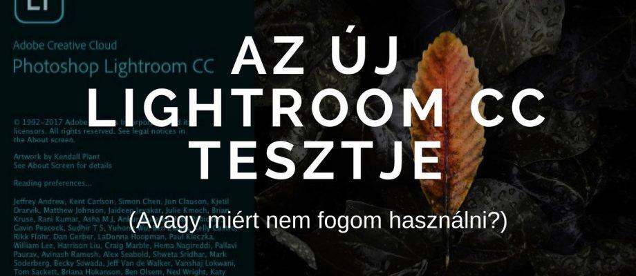 Új Lightroom CC tesztje