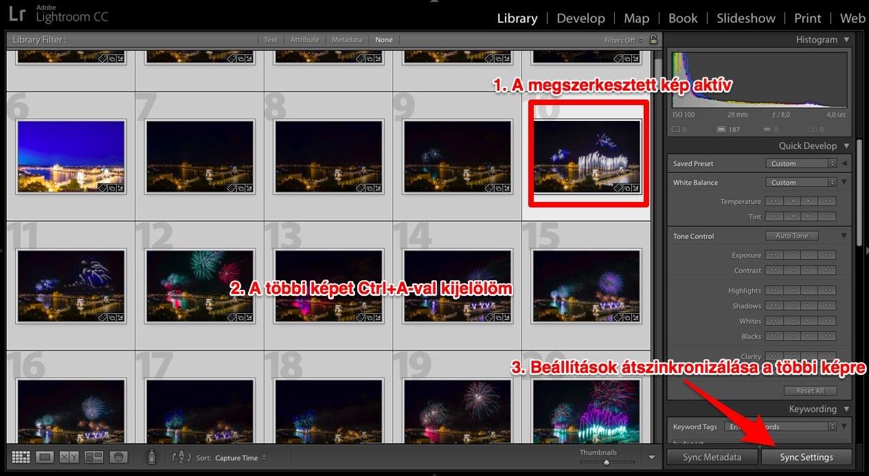 Lightroom Library szinkronizálás