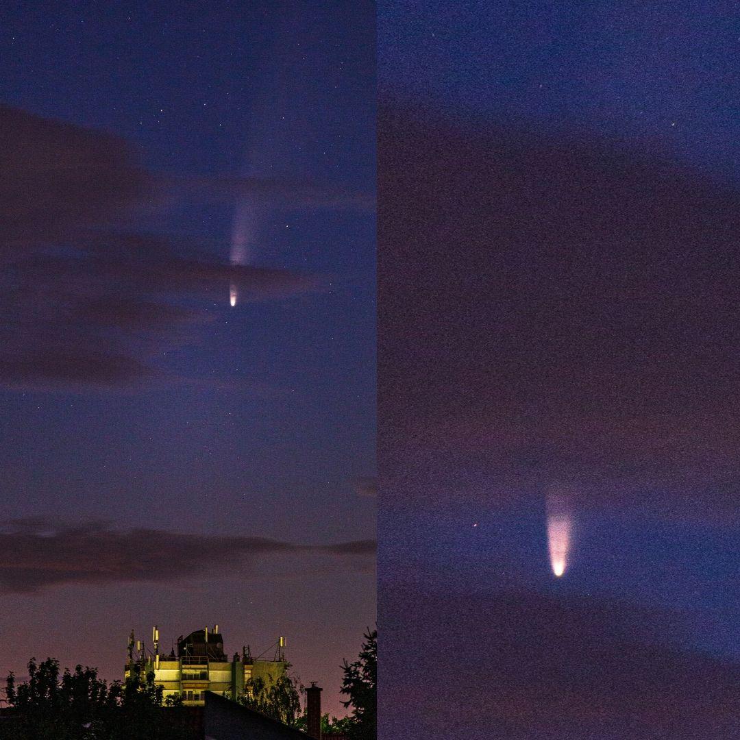 C/2020 F3 (NEOWISE) ustokos Vac felett