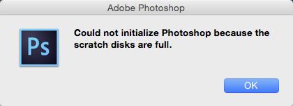 Photoshop scratch disk full