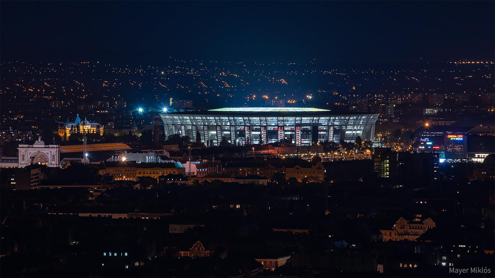 Puskás stadion és Keleti Pályaudvar a Citadellától