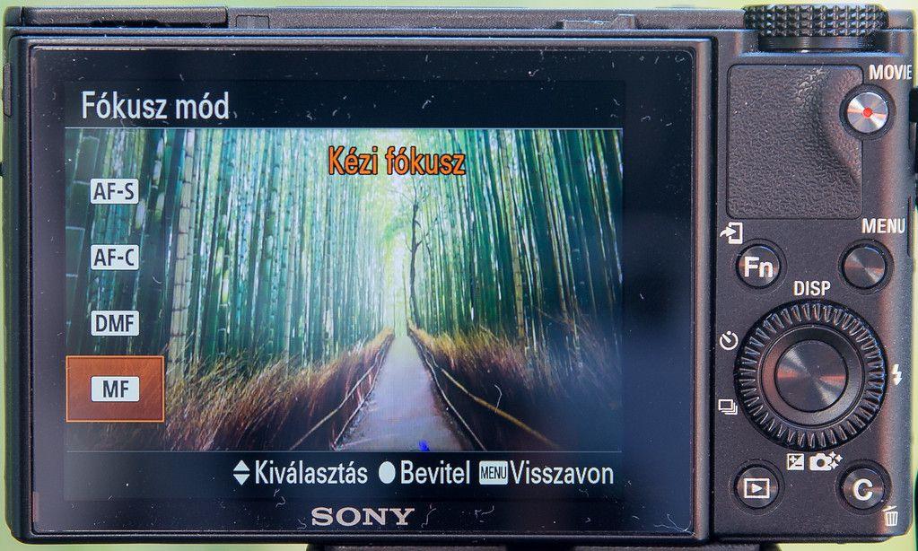 Sony RX100 manuális fókuszálás