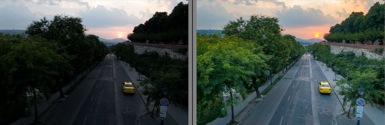 Sony rx100 naplemente lightroom előtte-utána
