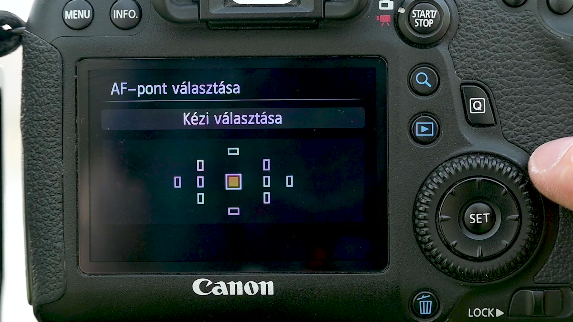 Canon 6D középső AF pont