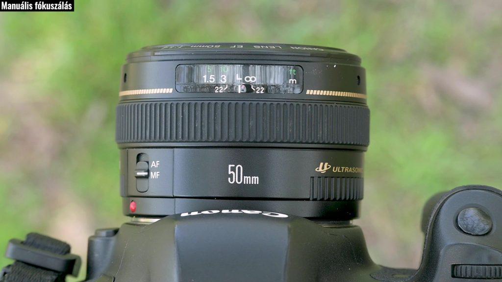 Manuális fókuszálás Canon objektívvel
