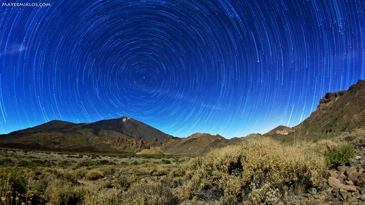 Csillaghúzós kép Teneriféről
