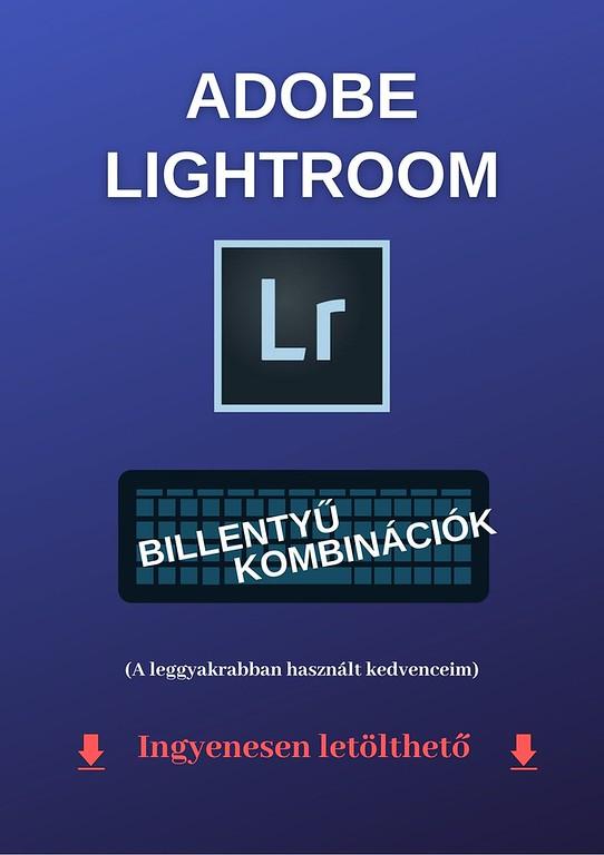 Adobe Lightroom billentyűparancsok listája letöltése