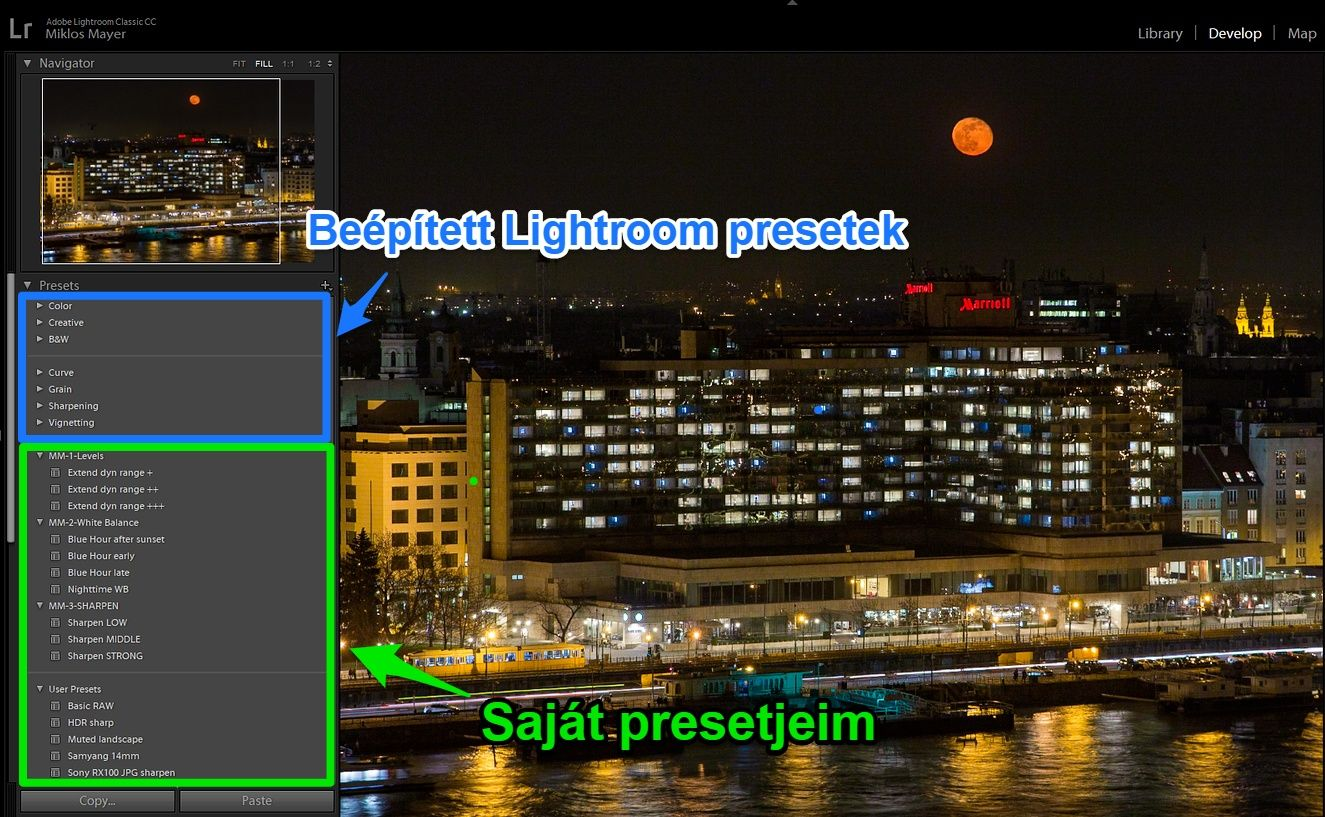 Lightroom develop presetek