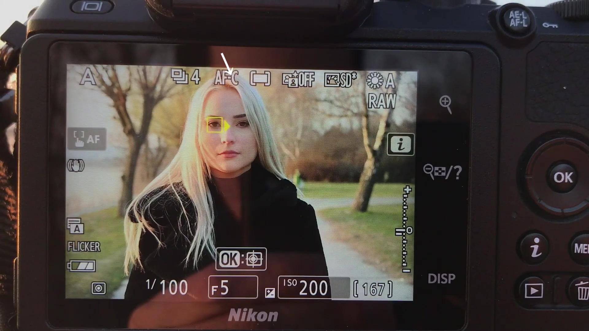 Nikon Z50 szemkövető autofókusza
