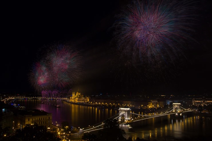 ND szűrős tűzijáték fotó