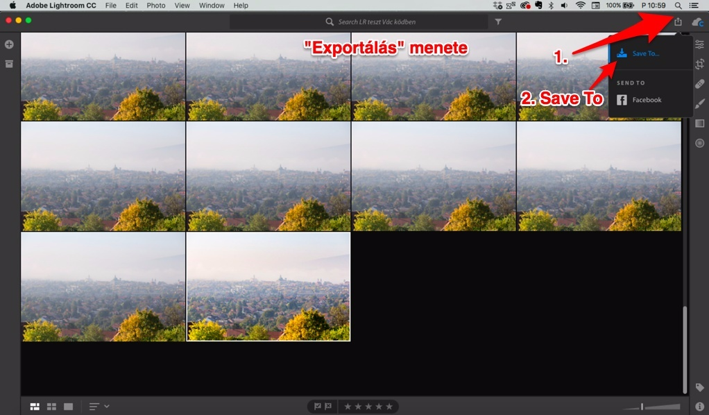 lightroom cc export mentés