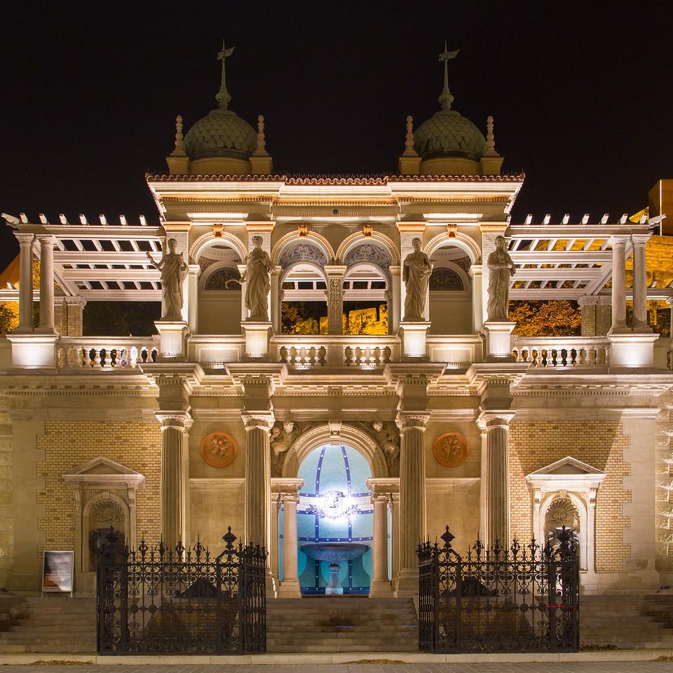 Várkert Bazár éjjeli diszkivilágítása