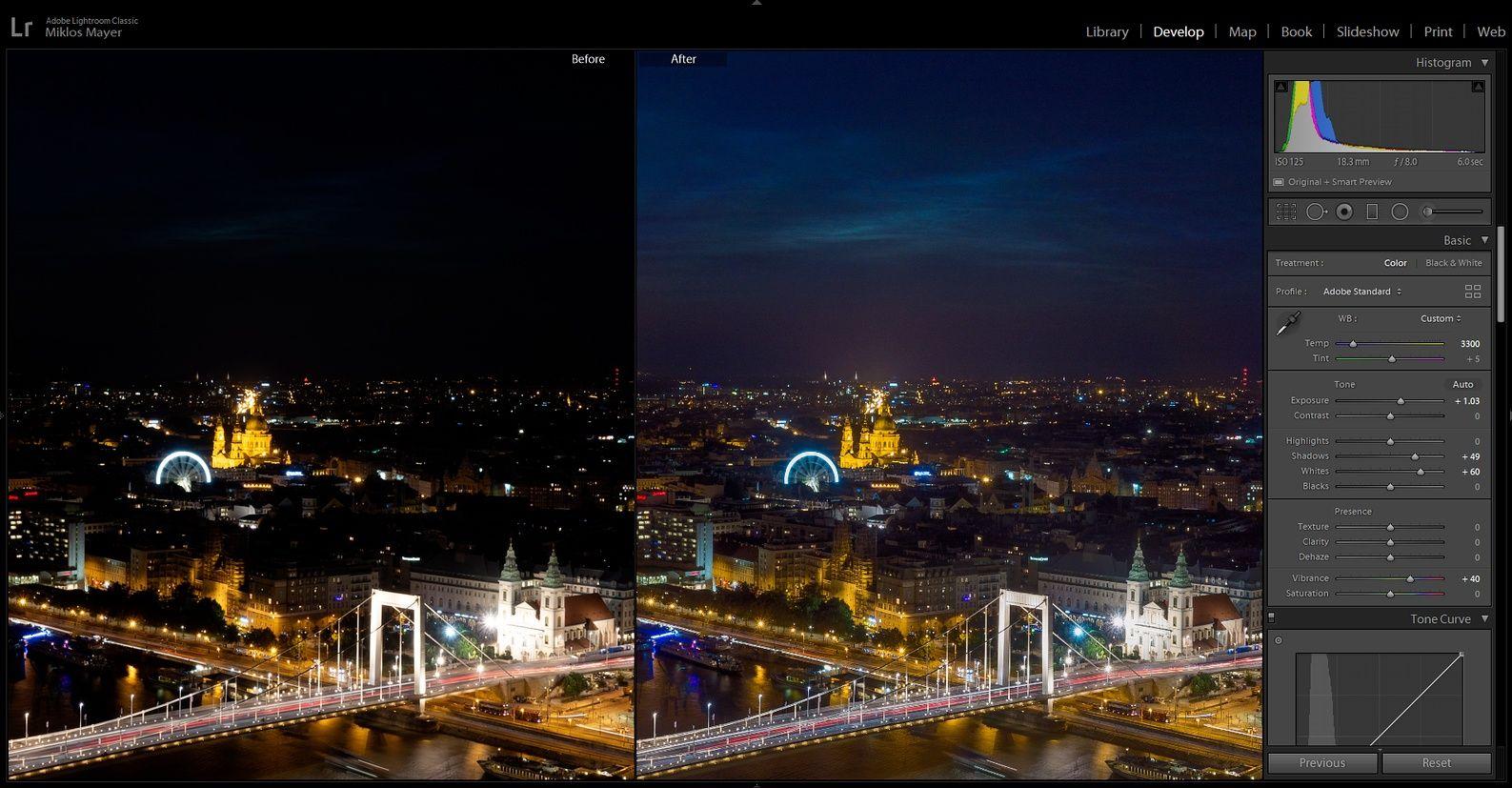 vilagito felhok Budapest felett lightroomban feldolgozás