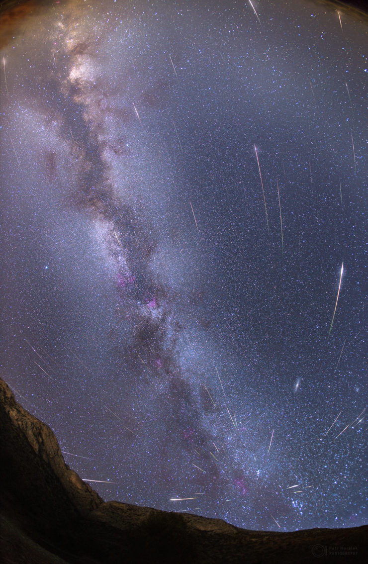 Perseida meteorok Petr Horálek képén